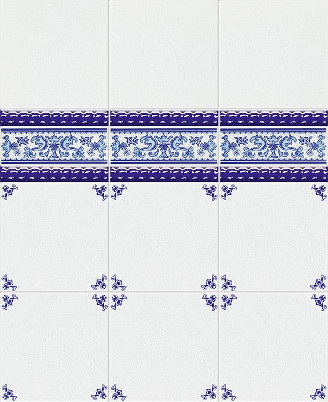 CUARTEO AZUL 20x20