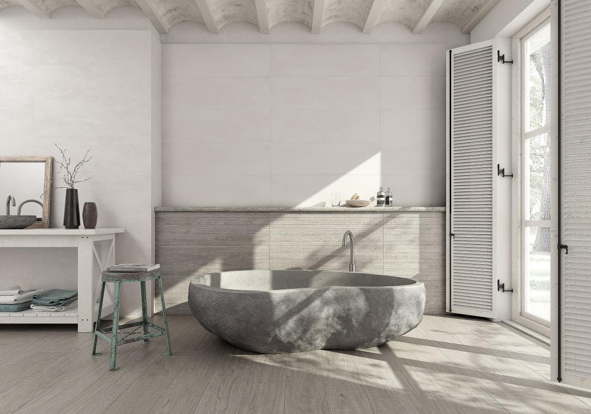 Ambiente Wabi Concrete Blanco Wabi Fabric Blanco Wabi Wood Gris Coverlam Irati Encina Web